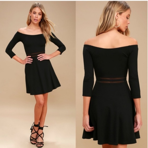 Lulus Dresses Nwt Lulus Yes To The Mesh Black Skater Dress Poshmark